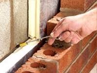 Cavity wall tie installation -  Step 2