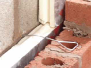 Cavity wall tie installation -  Step 3